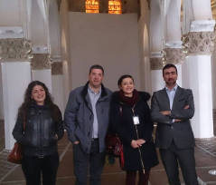 El escritor toledano descendiente de anussim (judíos conversos), José Ignacio Carmona Sánchez, ha llevado a cabo una visita privada en Toledo con el Viceministro de Educación de Israel, Avi Wortzman.